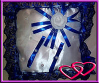 """Свадебные подушечки для колец """"Роза"""", цвета в ассортименте"""