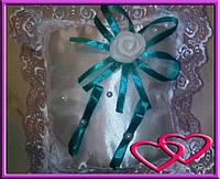 """Свадебные подушечки для колец """"Роза"""", цвета в ассортименте Бирюзовый"""