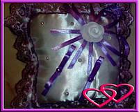 """Свадебные подушечки для колец """"Роза"""", цвета в ассортименте Фиолетовый"""