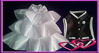 """Свадебные костюмчики для шампанского """"Он и Она"""", цвет в ассортименте Черно-белый"""