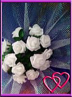Свадебные нарядные букеты на машину розы,сетка,фатин Фиолетовый