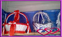 Свадебные корзинки для лепестков 4 банта