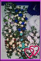 Свадебные цветы для украшения машины