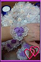 """Свадебные бутоньерки для свидетельниц на руку """"Три розы"""""""