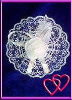 """Свадебные бутоньерки для свидетельниц на руку""""Роза в кружеве"""", цвета в ассортименте"""