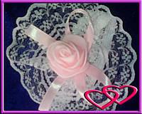"""Свадебные бутоньерки для свидетельниц на руку""""Роза в кружеве"""", цвета в ассортименте Розовый"""