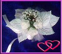 """Свадебные бутоньерки для жениха или свидетеля """"Букет роз"""""""