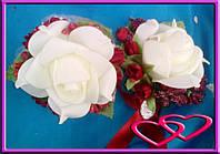 """Свадебный набор бутоньерок для свидетелей """"Открытая роза"""""""
