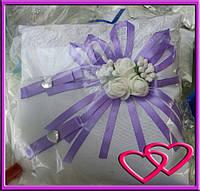 """Свадебные подушечки для колец """"Кружевная роза"""""""