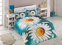 Постельное белье Cotton box Ранфорс Floral Seri 3D DAISY MAVI