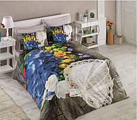 Постельное белье Cotton box Ранфорс Floral Seri 3D FRILLY BEJ