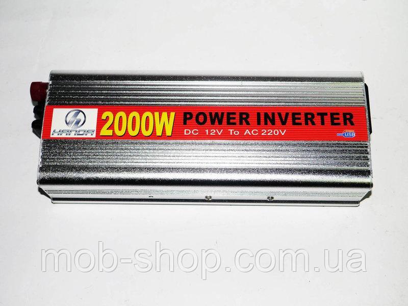 Инвертор преобразователь напряжения Power Inverter 2000W 12V в 220V