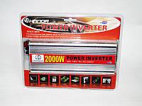 Инвертор преобразователь напряжения Power Inverter 2000W 12V в 220V, фото 5