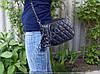 Клатч Michael Kors 8028 с шипами женский черный с серебром на цепочке 21 см x 18 см x 10 см