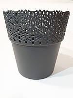 Белла 14,5 см, горшок пластмассовый, кружево, фото 1