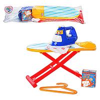 Игровой набор для девочки Гладильный набор (8022) гладильная доска, утюг, вешалка, в пакете