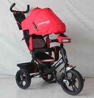 Детский трехколесный велосипед Азимут Crosser T1 фара, EVA, Красный