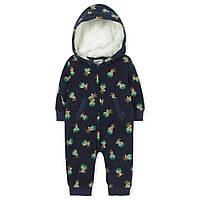Флисовый комбинезон на молнии для ребенка с 9 месяцев до 2 лет (человечек, хлопок) ТМ Jumping Beans