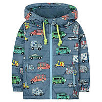Утепленная куртка-ветровка на флисе для мальчика от 2 до 7 лет (полиэстер) ТМ Jumping Beans