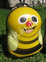 """Детский чемодан 16"""" на колесах Animals желтый"""