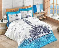 Постельное белье 200х220 Cotton Box ранфорс LIGHT HOUSE MAVI