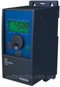 Преобразователь частоты Vacon 0010-3L-0005-4-MACHINERY 3Ф 380В 1,5 кВт ЭМС фильтр, RS485, векторное управление