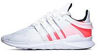 Женские кроссовки Adidas EQT Support ADV PK White Pink (Адидас) розовые/белые