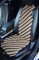 Деревянная накидка массажная на автокресло, фото 1