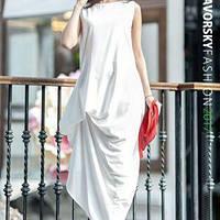 Платье АМУР с фактурными защипами цвет белый
