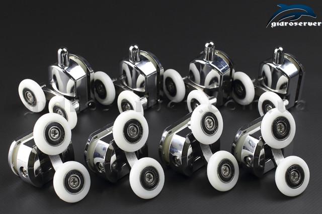 Ролики для душевых кабин, гидромассажных боксов M-02A+B комплекте 8 штук.