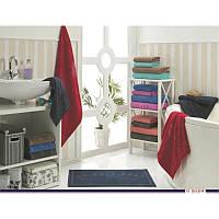 U.S.Polo Assn - Bradenton кофейный/голубой, набор 4 полотенца и коврик