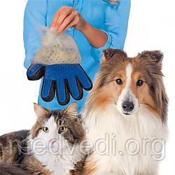 Pet Brush Glove - перчатка для вычесывания шерсти домашних животных