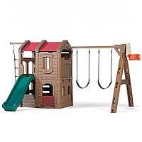 Игровой Комплекс с горкой и качелей Step2 - CША - есть второй этаж  и баскетбольная корзина