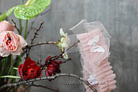 """Подвязка невесты пудрового цвета с бабочкой 3Д и брошью """"Бабочка"""""""