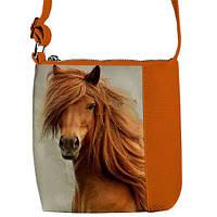 """Сумка детская через плечо BR с принтом """"лошадь"""", сумки для девочек"""