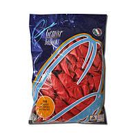 """Латексные шары Пастель красные 10"""" (25-26 см), 100 штук ТМ Gemar"""