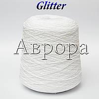 Glitter ,белый  (80% хлопок, 20% вискоза,  220м/100г ,)