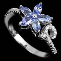 Кольцо серебро 925 танзанит 16,25 р