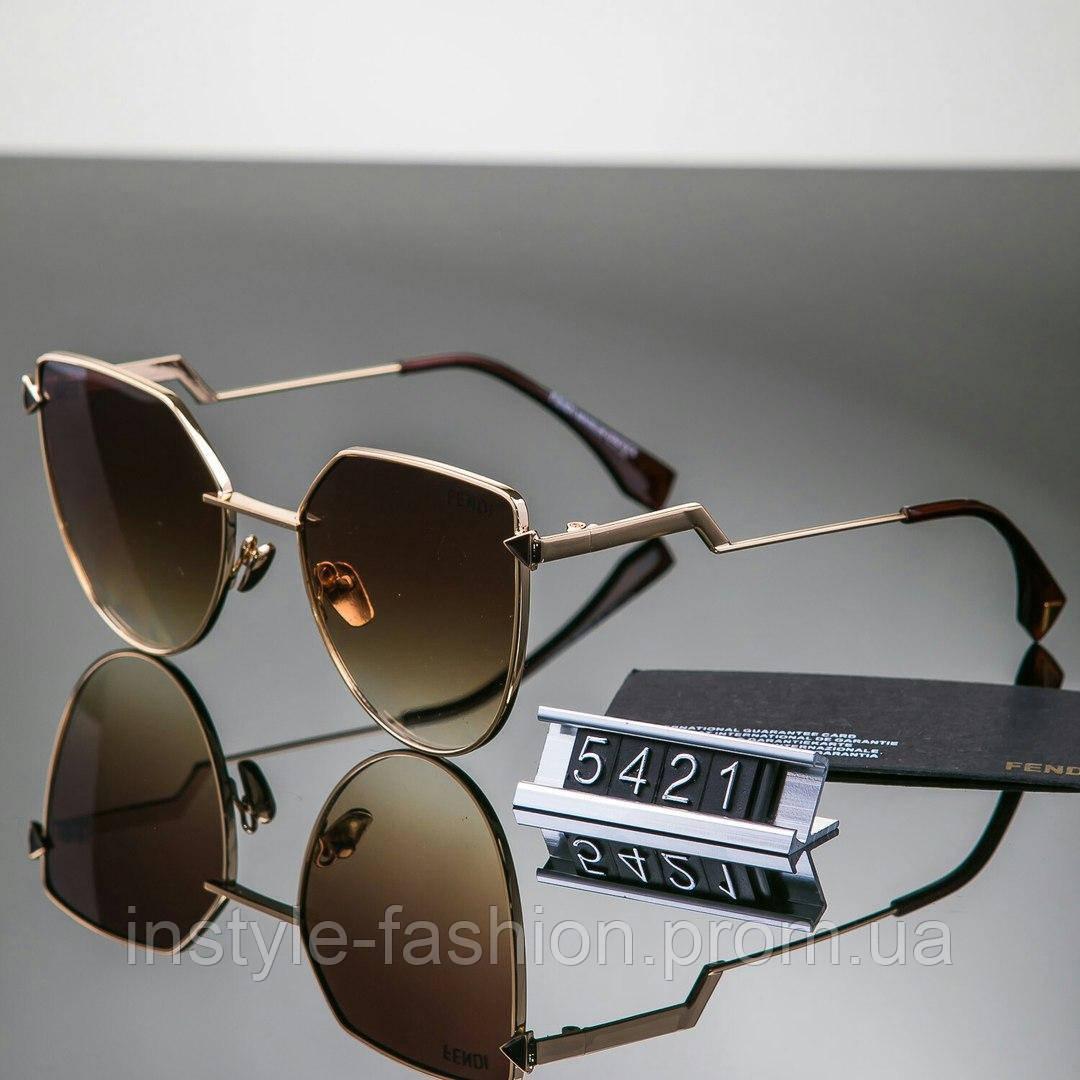 86ddf6317b76 Женские стильные очки Fendi Фенди коричневые - Сумки брендовые, кошельки,  очки, женская одежда