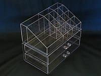 Компактний двох'ярусний органайзер для косметики, фото 1