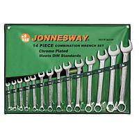 Набор комбинированных ключей 10-32 мм, 14 предметов Jonnesway W26114S