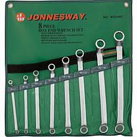 Набор ключей накидных 75-гр, 6-22 мм, 8 предметов Jonnesway W23108S