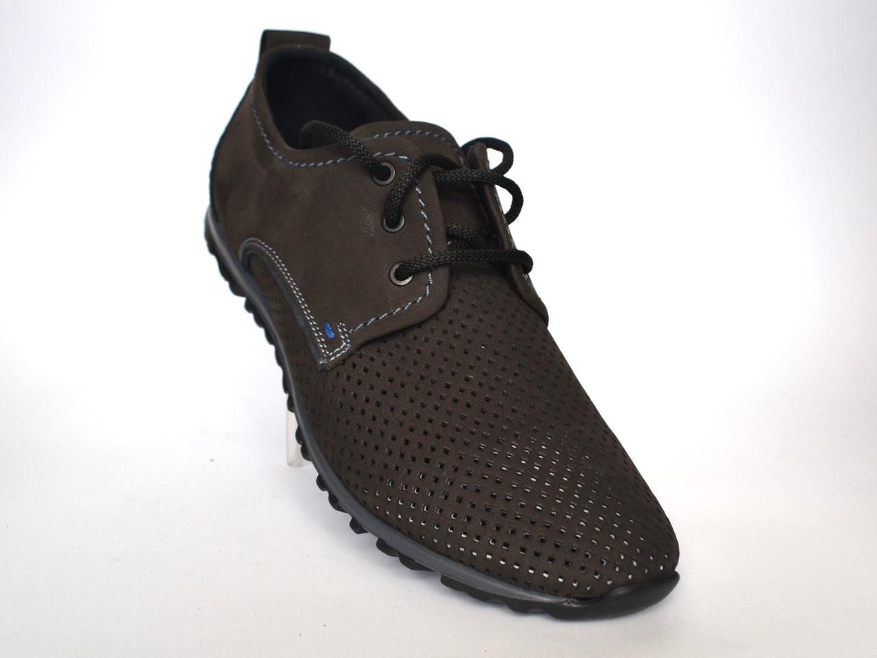 Обувь больших размеров мужская летние мужские кроссовки нубук сетка коричневые Rosso Avangard BS ANBrown