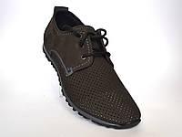 Обувь больших размеров мужская летние мужские кроссовки нубук сетка коричневые Rosso Avangard BS ANBrown, фото 1