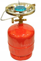 Примус Газовая печка портативная с баллоном на 1,2 литров, огонь под рукой