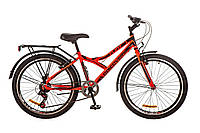 """Велосипед 24"""" DISCOVERY FLINT MC 2017 (красно-черный)"""