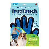 True Touch - массажная перчатка для вычесывания шерсти животных