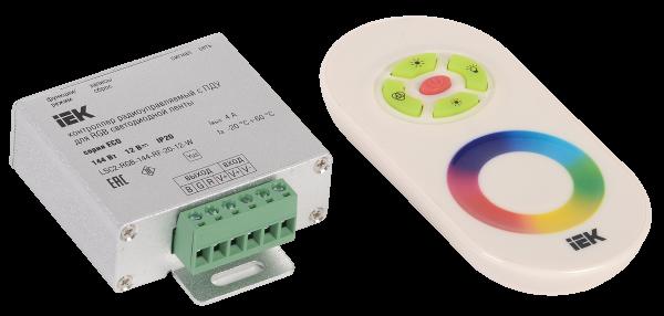 Контроллер с ПДУ радио (белый) MONO 1 канал 12В, 10А, 120Вт IEK-eco