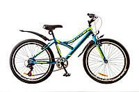 """Велосипед 24"""" DISCOVERY FLINT 2017 (сине-черно-зеленый)"""