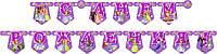 """Бумаж. гирлянда Принцесса София """"С Днем Рождения"""" 2м25см"""